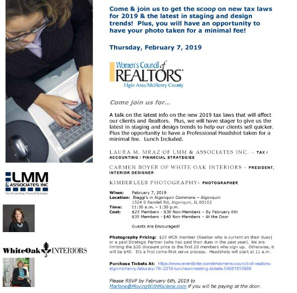 Join Us for Our Women's Council of Realtors Luncheon/Meeting